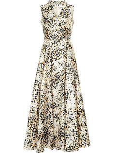 платье с запахом в горох Alexis Mabille