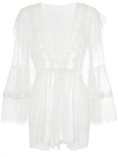 кружевная блузка Alberta Ferretti