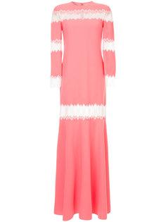 платье с кружевными вставками Huishan Zhang