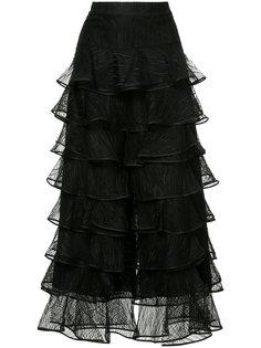 платье с оборками на юбке Huishan Zhang