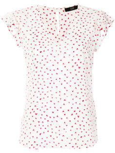 блузка с V-образным вырезом с принтом Steffen Schraut