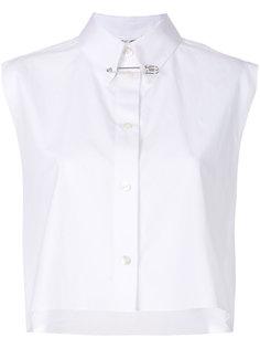 укороченная рубашка с короткими рукавами Helmut Lang