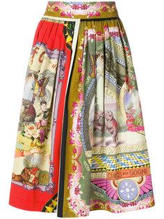 юбка-миди с принтом Circus Etro