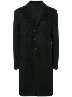 фактурное однобортное пальто Masnada