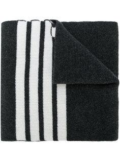 шарф в рубчик с полосками  Thom Browne
