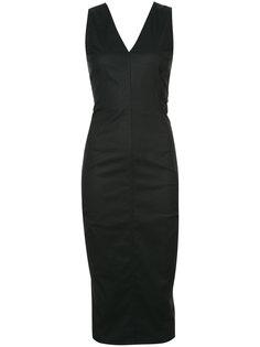 приталенное платье с V-образным вырезом Rick Owens
