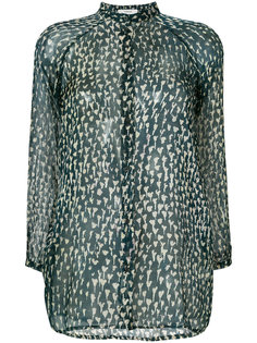 sheer button up blouse Humanoid