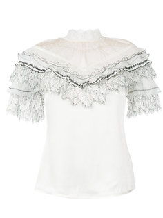 блузка с рюшами Self-Portrait