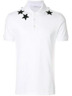 рубашка-поло со звездами  Givenchy