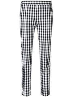 брюки скинни в клетку гингем Boutique Moschino