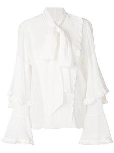 асимметричная блузка с завязкой на бант Chloé