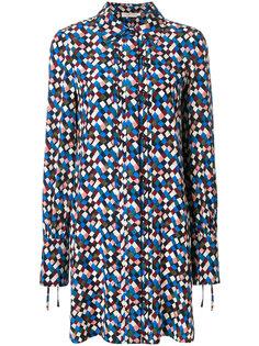 платье-рубашка с мелким принтом Tory Burch
