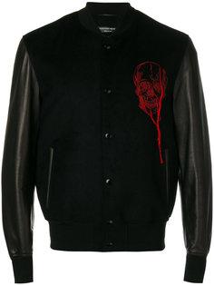 университетская куртка с вышивкой Alexander McQueen