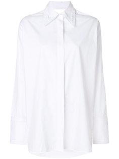 рубашка с вырезными деталями Helmut Lang