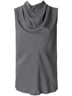 блузка с воротником-хомутом Rick Owens