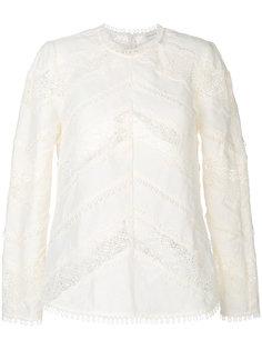 блузка с ажурными вставками Zimmermann