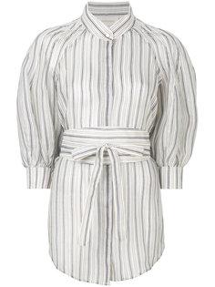 полосатая блузка с буффами Zimmermann