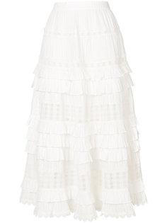 плиссированная юбка с оборками Zimmermann