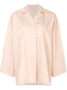 пальто свободного кроя с драпированными деталями Nina Ricci