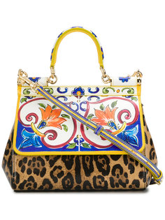 сумка-тоут с клапаном на магните Sicily Dolce & Gabbana