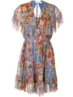 платье с цветочным рисунком и оборками Zimmermann