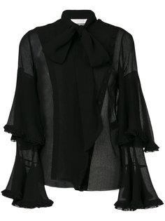 прозрачная блузка с расклешенными рукавами Chloé