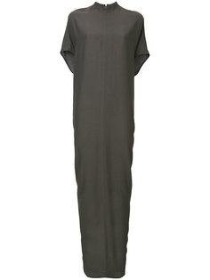 длинное зауженное книзу платье Rick Owens