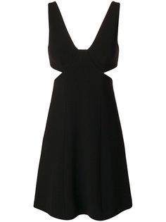 расклешенное платье с вырезами Theory