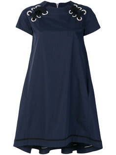 платье со шнуровкой на плечах Sacai