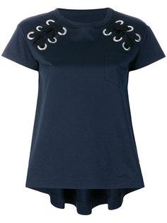 футболка со шнуровкой на плечах Sacai