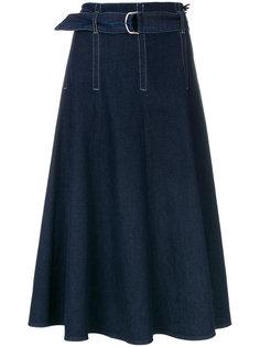 джинсовая юбка-миди с ремнем Marc Cain