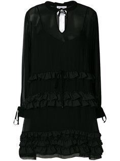 платье-рубашка с рюшами Twin-Set