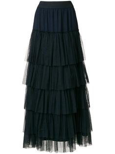 длинная юбка с рюшами Twin-Set