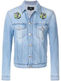 джинсовая куртка с заплатками Versus