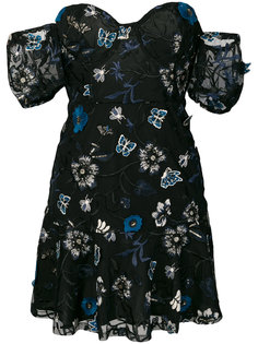 платье без бретелей с вышивками For Love And Lemons