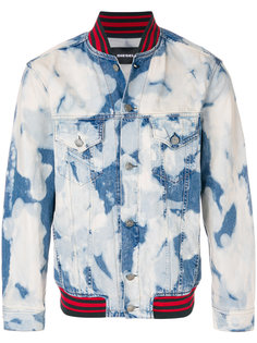 джинсовая куртка-бомбер Diesel