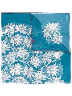 шарф с цветочным принтом Valentino