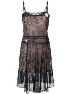 приталенное кружевное платье  Twin-Set