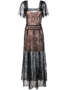 длинное кружевное платье Twin-Set