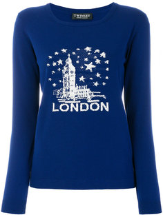 вязаный свитер London  Twin-Set
