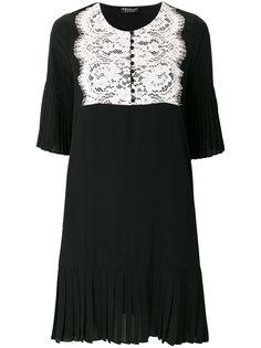 платье с кружевной панелью Twin-Set