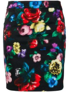 юбка с цветочным принтом Love Moschino