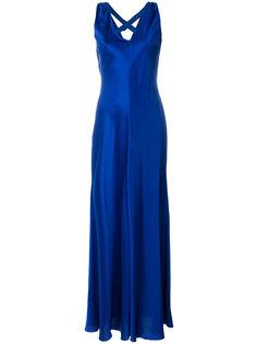платье без застежки с глубоким декольте Alberta Ferretti
