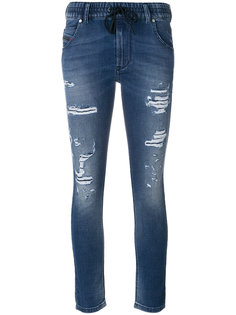 джинсы с эластичным поясом Diesel