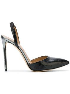 туфли с эффектом крокодиловой кожи Marc Ellis