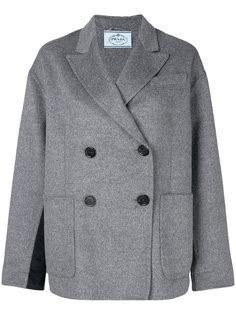 двубортное укороченное пальто Prada