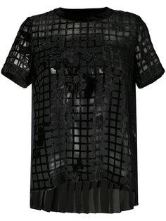 прозрачная блузка в сетку Sacai