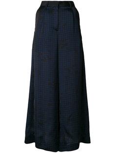 полупрозрачные брюки-палаццо Sacai