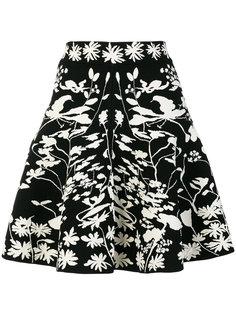 юбка А-силуэта с цветочным принтом Alexander McQueen