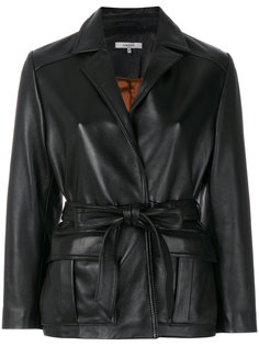 байкерская куртка с поясом Ganni